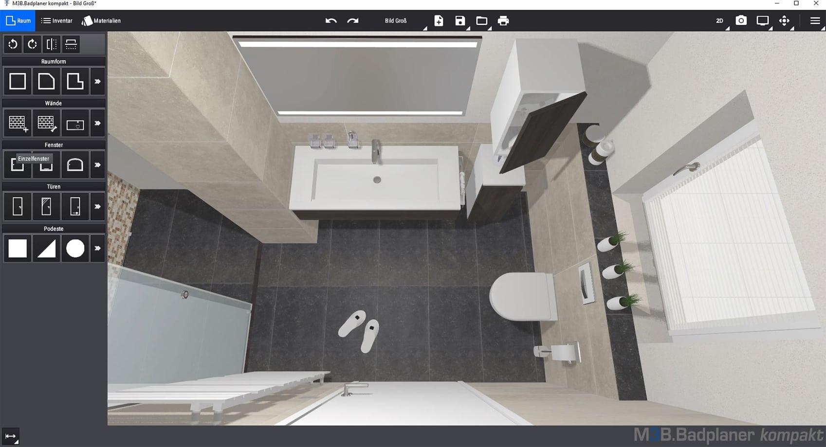 3D Ansicht der Badplanungssoftware