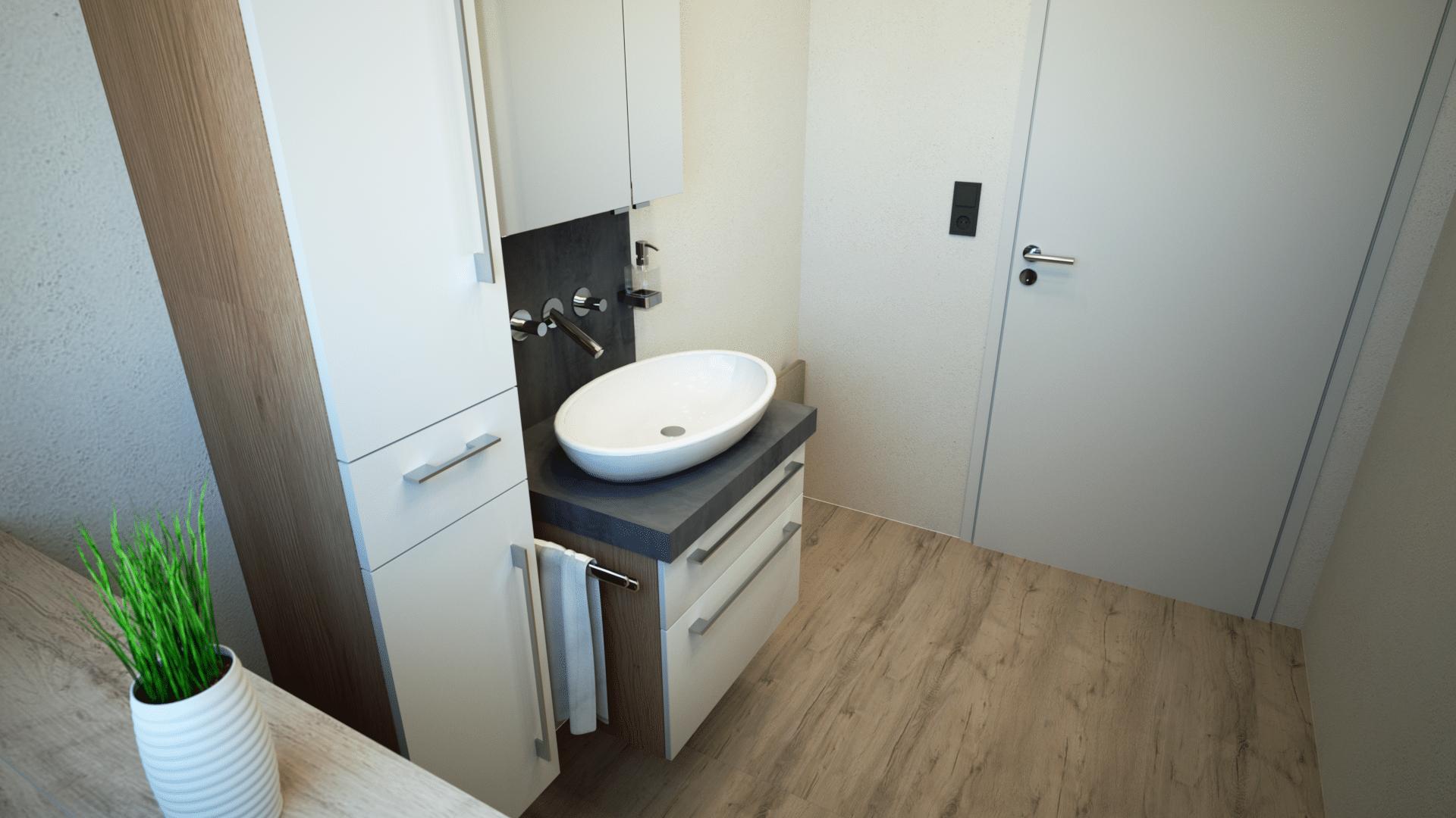 Gäste WC aus Badplanungssoftware