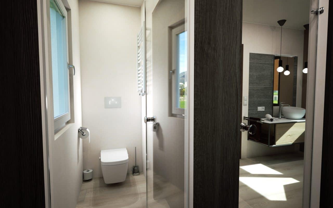 Bild aus 3D Badplanungssoftware mit separatem WC