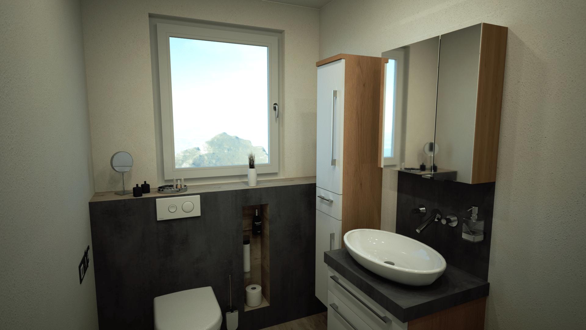 Foto aus 3D Badplanung Gästebad